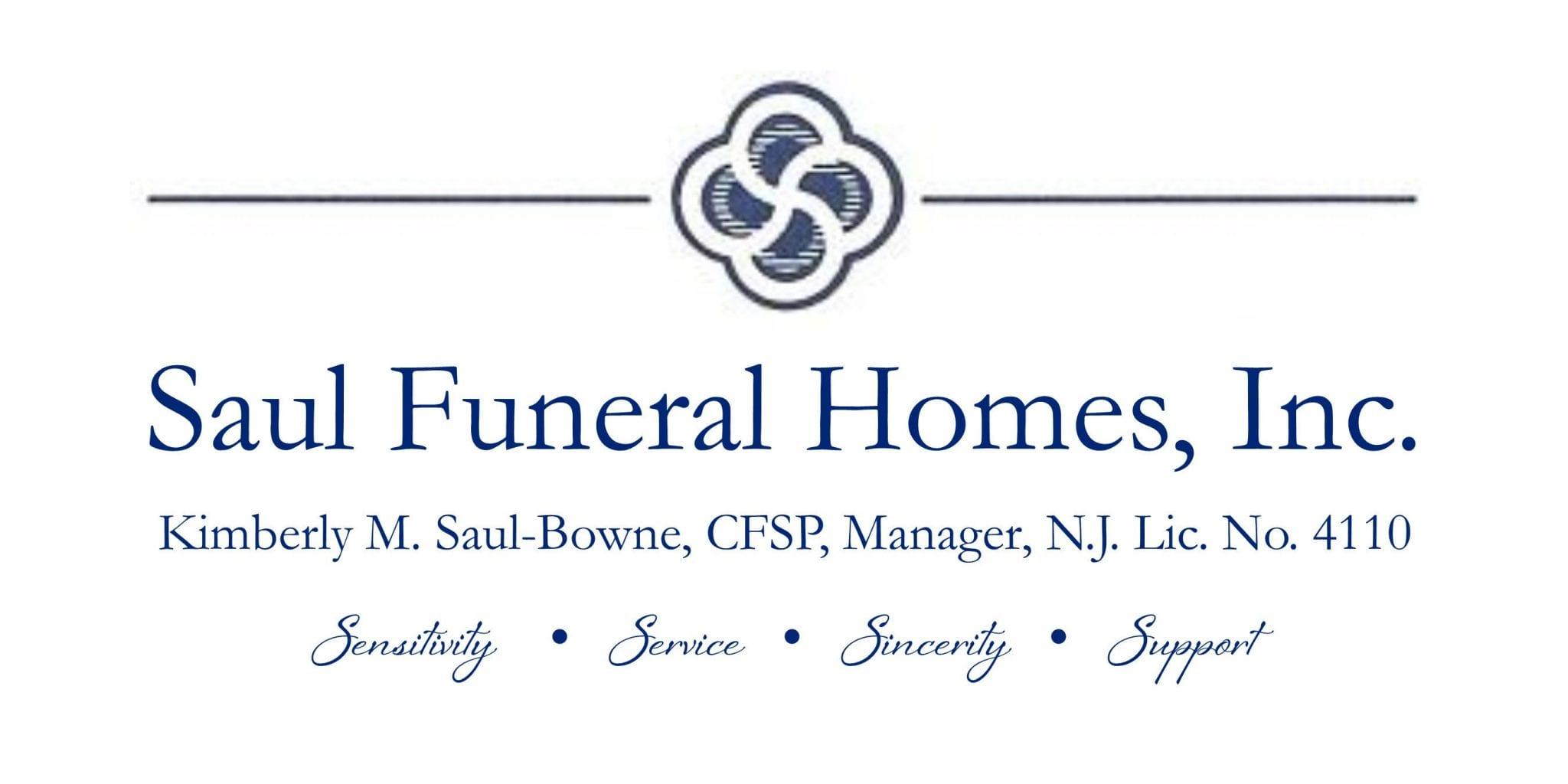 Logo: Saul Funeral Homes CCNJ Sponsor