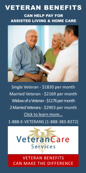 Graphic: Advertisement Veterans Care Services veteranscareservices.com